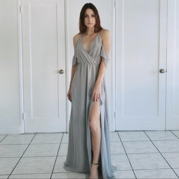 d4e9b339d22 Tobi Rhythm Cold Shoulder Maxi Dress